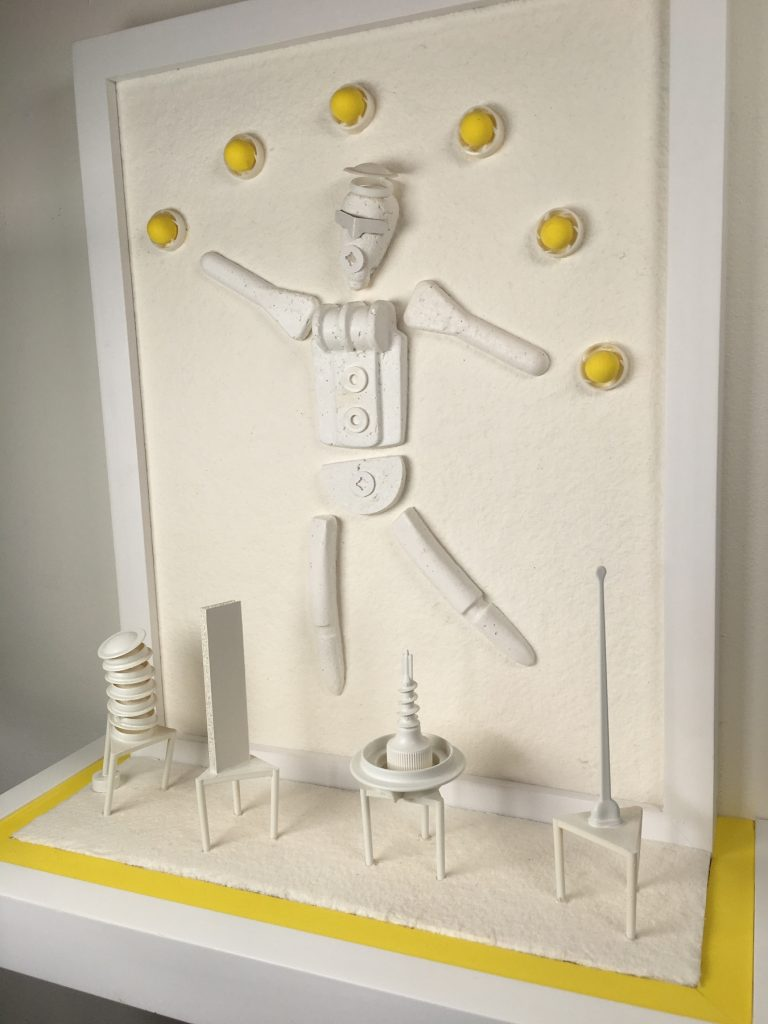 Pulp Fiction/Juggler with Small Sculptures